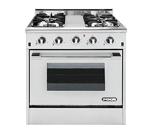 "NXR DRGB3001 Professional Style Gas Range, 30"", Stainless Steel"