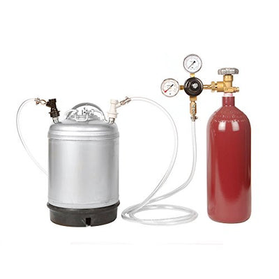 Nitro Coffee Cold Brew Coffee Keg Kit - 2.5 Gallon Keg, Nitrogen Tank, Tap, All Accessories