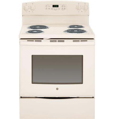 "GE JB255DJCC 5.3 Cu.Ft. Free-Standing Electric Range, 30"", Bisque"