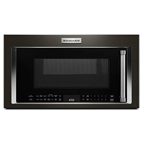 Kitchen Aid KMHC319EBS 1.9 Cu. Ft. 1000W Over-the-Range Black Stainless Convection Microwave KMHC319EBS