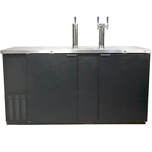 Direct Draw 3 Kegerator Refrigerator in Black with Glass Rinser