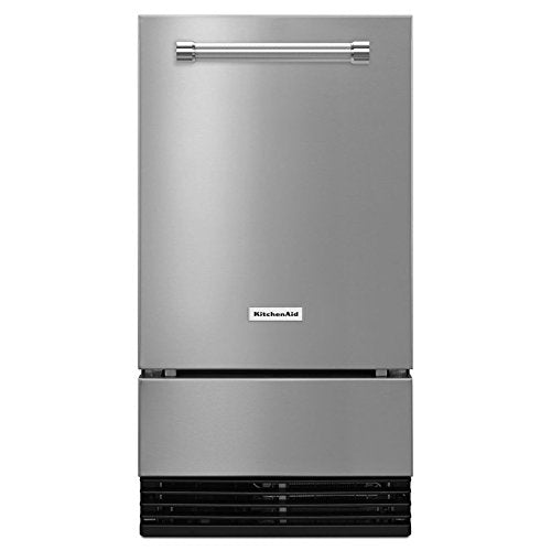 KitchenAid 18'' Automatic Ice Maker - Stainless Steel (No Pump) Gravity Drain