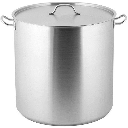 "Royal Industries Classic Stock Pot with Cover, 100 qt, 19.7"" x 19.7"" HT, Stainless Steel, Commercial Grade - NSF Certified"