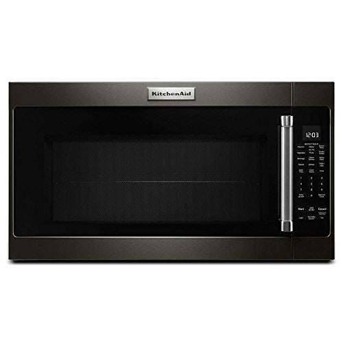 KitchenAid 30 in. 2.0 cu. ft. Over the Range Microwave in Black Stainless with Sensor Cooking