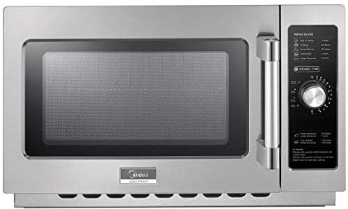 Midea 1434N0A Commercial Microwave, Stainless Steel