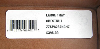 Ghurka 100% Leather Large Tray Chestnut Soft Corners Made in USA
