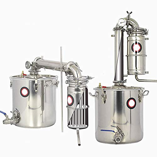JIAWANSHUN 70L Bar Household Facilities Wine Limbeck Water Liquor Large Capacity Vodka Maker Brew Kit Wine Making Boiler Alcohol Whisky 110V