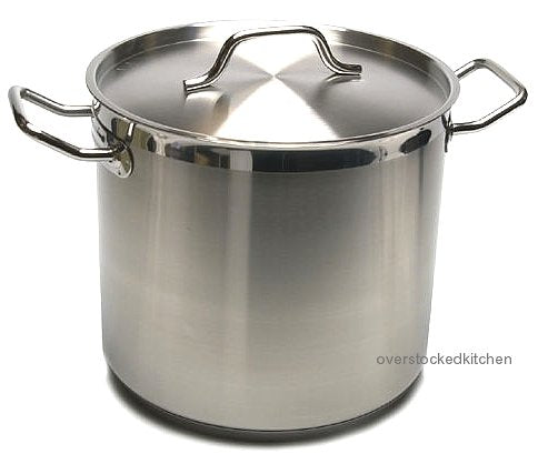80 QT Stainless Steel (Commercial Grade NSF) Stock Pot W/LID