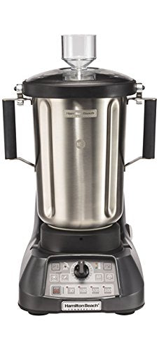 "Hamilton Beach Commercial HBF1100S Culinary Blender, 1 gal/4 L, Powerful Precision with Great Results, 19.25"" Height, 12"" Width, 15"" Length, Grey"