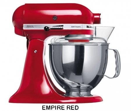 Kitchen Aid 5KSM150 Stand Mixer Empire Red- 220 Volts Only! Will Not Work In The USA