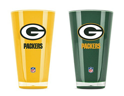 NFL Green Bay Packers 20oz Insulated Acrylic Tumbler Set of 2