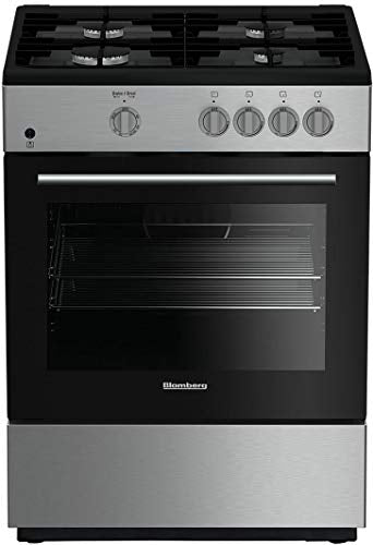 "Blomberg BGR24102SS 24"" Gas Range with 4 Sealed Burners 2.3 cu. ft. Oven Capacity Electronic Ignition Easy Clean Enamel Interior Heavy Chrome Racks in Stainless"