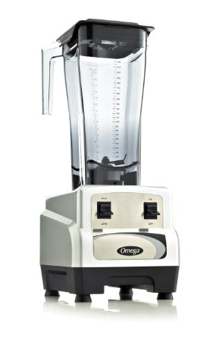 Omega BL430S 3 Peak Horse Power Commercial Blender, High/Low Toggle Controls, 82-Ounce, Silver