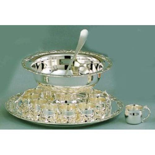 Elegance Silver 13 Piece Romantica Collection Punch Bowl