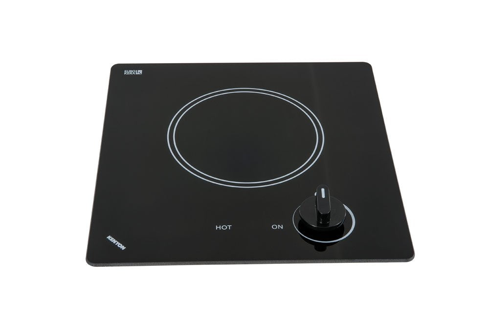 Kenyon B41606 6-1/2-Inch Caribbean Single Burner Cooktop with Analog Control UL, 240-volt, Black