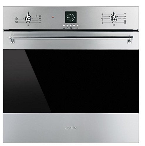 "Smeg SF399XU 24"" Classic Electric Multifunction Oven with 10 Cooking Modes, Stainless Steel"