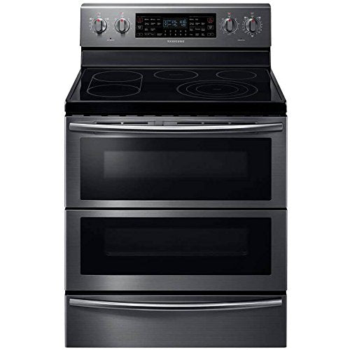 "Samsung NE59J7850WG 30"" Black Stainless Steel Electric Smoothtop Double Oven Range - Convection"