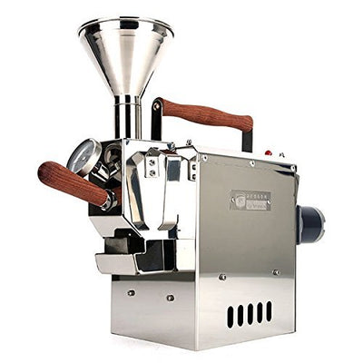 KALDI WIDE size (300g) Home Coffee Roaster Motorize Type Full Package Including Thermometer, Hopper, Probe Rod, Chaff Holder (Gas Burner Required)