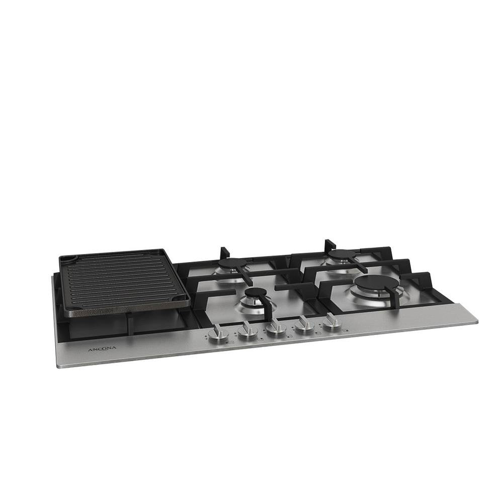 "Ancona AN-21019 34"" Gas Cooktop, Stainless Steel"