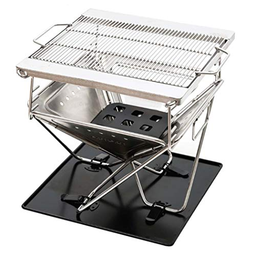 DSHBB Barbecue Grill,Fire BBQ Stand Racks,Household Mini Folding Portable Stand Stainless Camping Outdoor Garden Grill