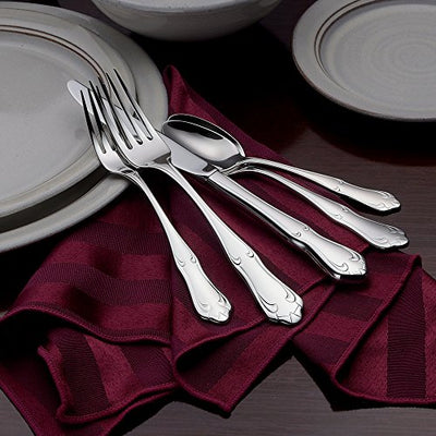 Liberty Tabletop Champlin 65-piece service for 12 18/10 Flatware Set, Includes Serving Pieces Made in USA