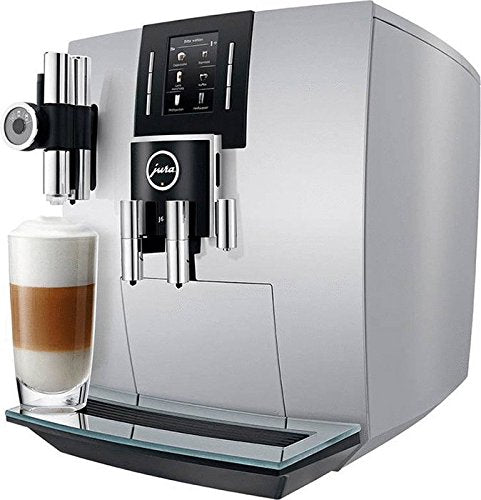 Jura 15150 J6 Coffee Machine, Brilliant Silver