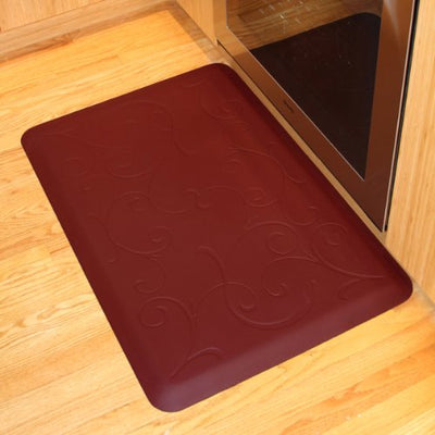 WellnessMats Bella Motif Anti-Fatigue Mat, Burgundy, 36 Inch by 24 Inch