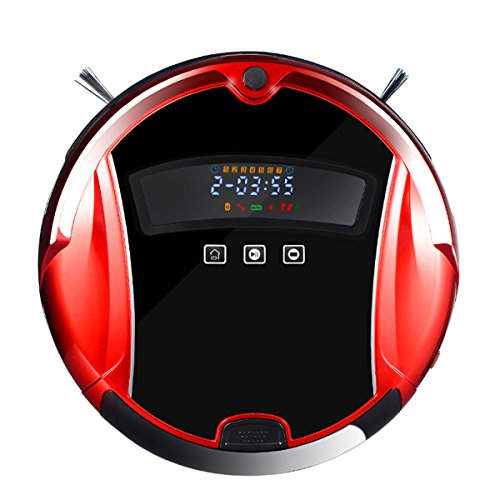 Angel Kiss Robot Vacuum Cleaner Smart Household/Office Vacuum Cleaner and Floor Mopping Robot (MINSUTR-2015A Red)