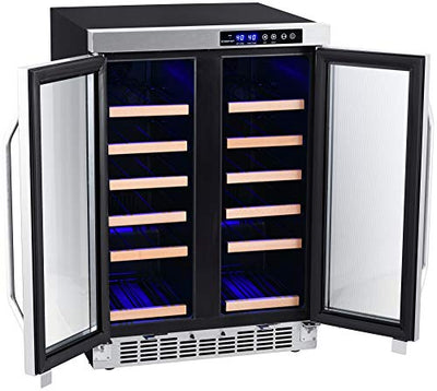 EdgeStar CWR362FD 24 Inch Wide 36 Bottle Built-In Wine Cooler with Dual Cooling Zones