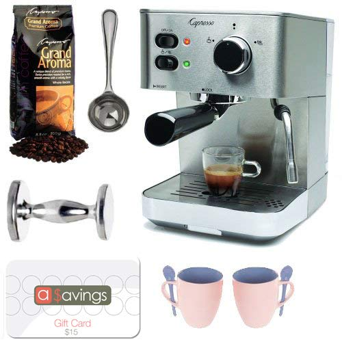 Capresso EC PRO 118.05 Espresso Machine w/ Grand Aroma Bean Coffee & Accessories