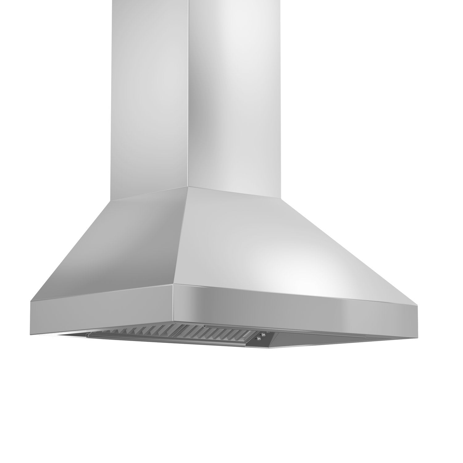 ZLINE 48 in. 900 CFM Wall Mount Range Hood in Stainless Steel with Crown Molding (597CRN-48)