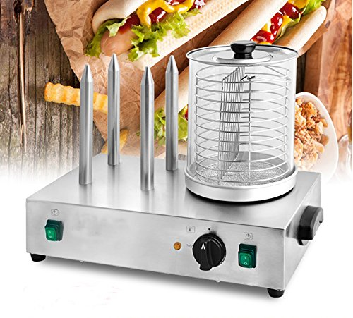 Techtongda 110V Hot Dog Warmer Machine/Hot Dog Roller and Bun Warmer Machine (Item # 020279)