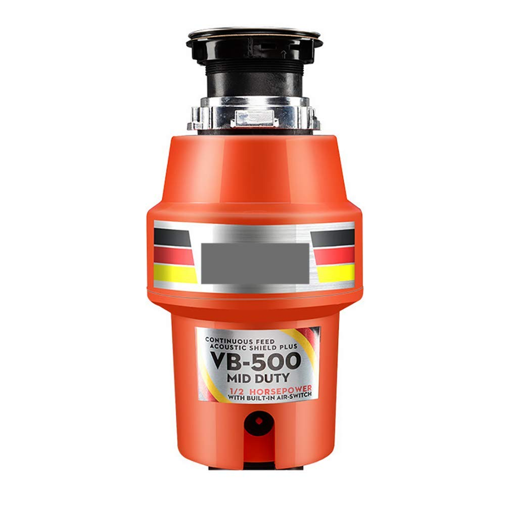 Food Waste Disposer, Household Compact Feed Kitchen Garbage Disposal220-240V,370W,3300 RPM,Orange