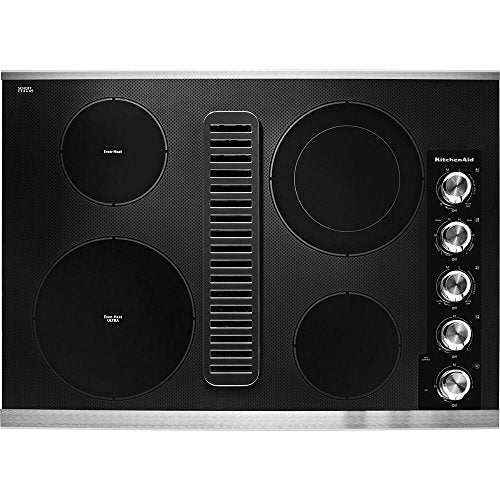 KitchenAid 30 in. Electric Downdraft Cooktop Stainless Steel KCED600GSS
