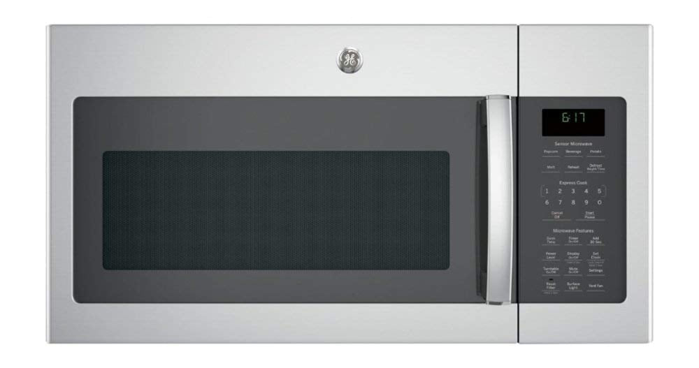 GE - 1.7 Cu. Ft. Over-the-Range Microwave - Stainless steel-Model:JVM6175SKSS