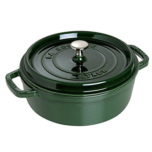 STAUB Shallow Wide Round Cocotte, Basil