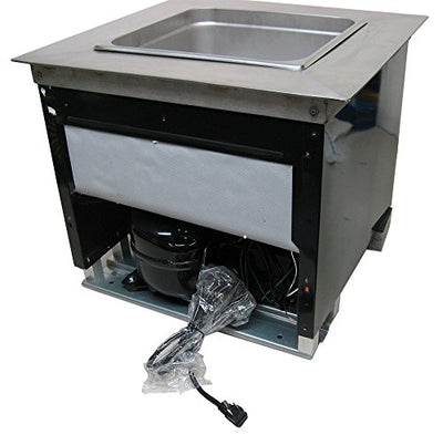 Drop-in Commercial Refrigeration Cold Well Chiller Insert for Coffee Counters to keep Milk & Cream refrigerated fresh 120 Volts