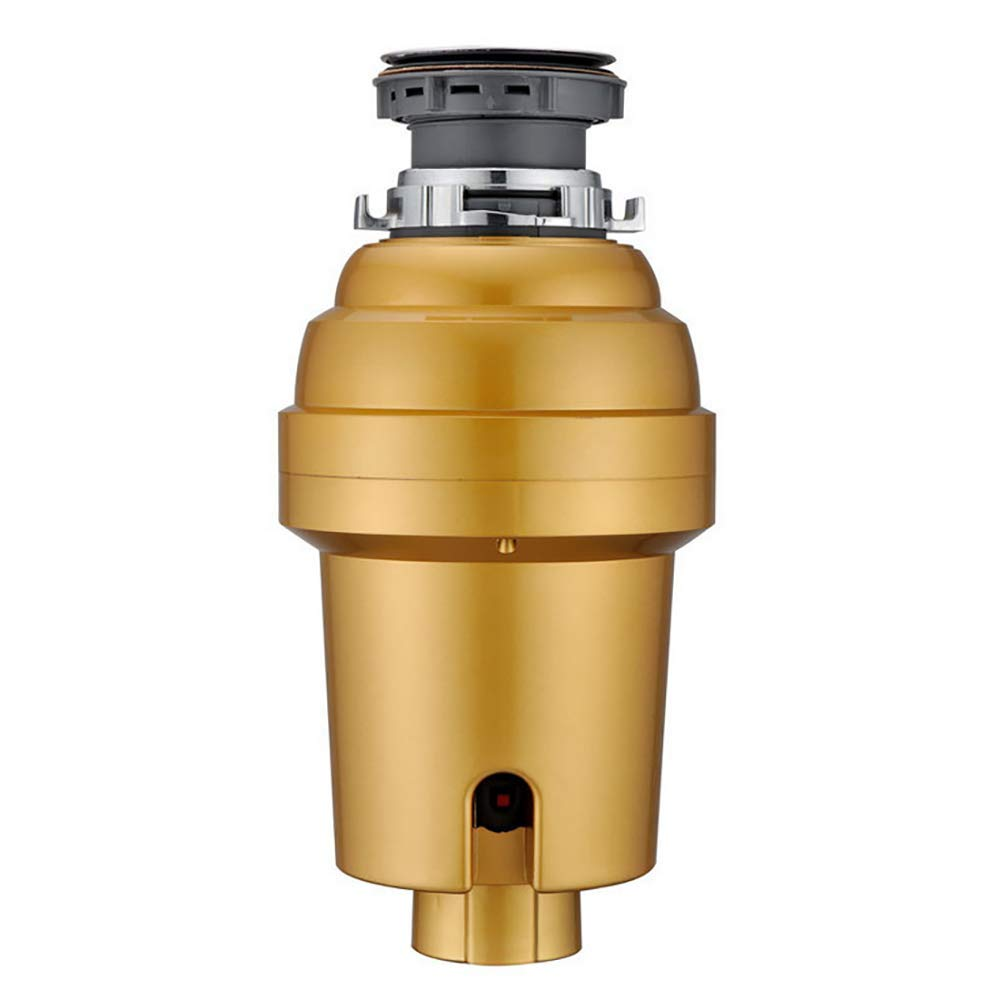 Household Compact Feed Food Waste Disposer, Kitchen Garbage Disposal,1/2 HP,Gold
