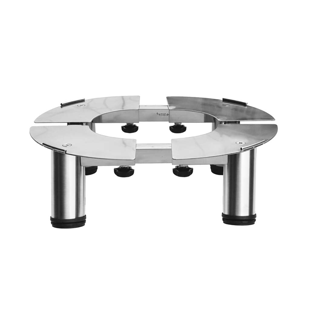 Qivor Stainless Steel Air Conditioning Base Cylindrical Round Cabinet Rack High Bracket (Size : 23-25cm)