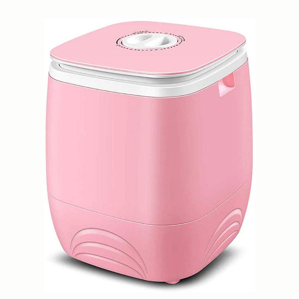 KYL Portable Baby Washing Machine, Electric Mini Single Barrel Household Semi-Automatic Small Washing Machine, for Infant Laundry (Color : Pink)