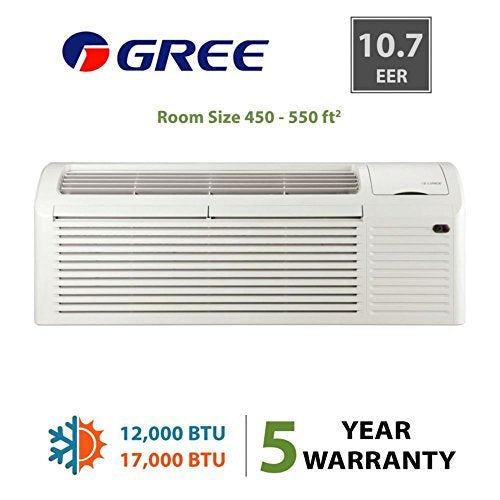 GREE ETAC-12HP265V30A-A - 12,000 BTU 10.7 EER PTAC Heat Pump 265V & 5Kw Heat - Commercial Use