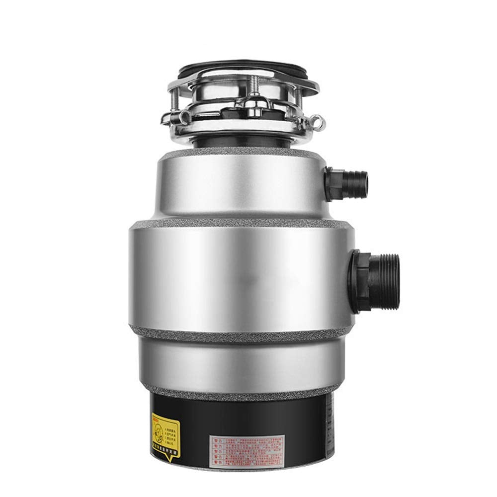 SMLZV Kitchen Food Waste Disposer,Super Quiet & Easy to Install,Stainless Steel,Suitable for Home Kitchen (Color : B)