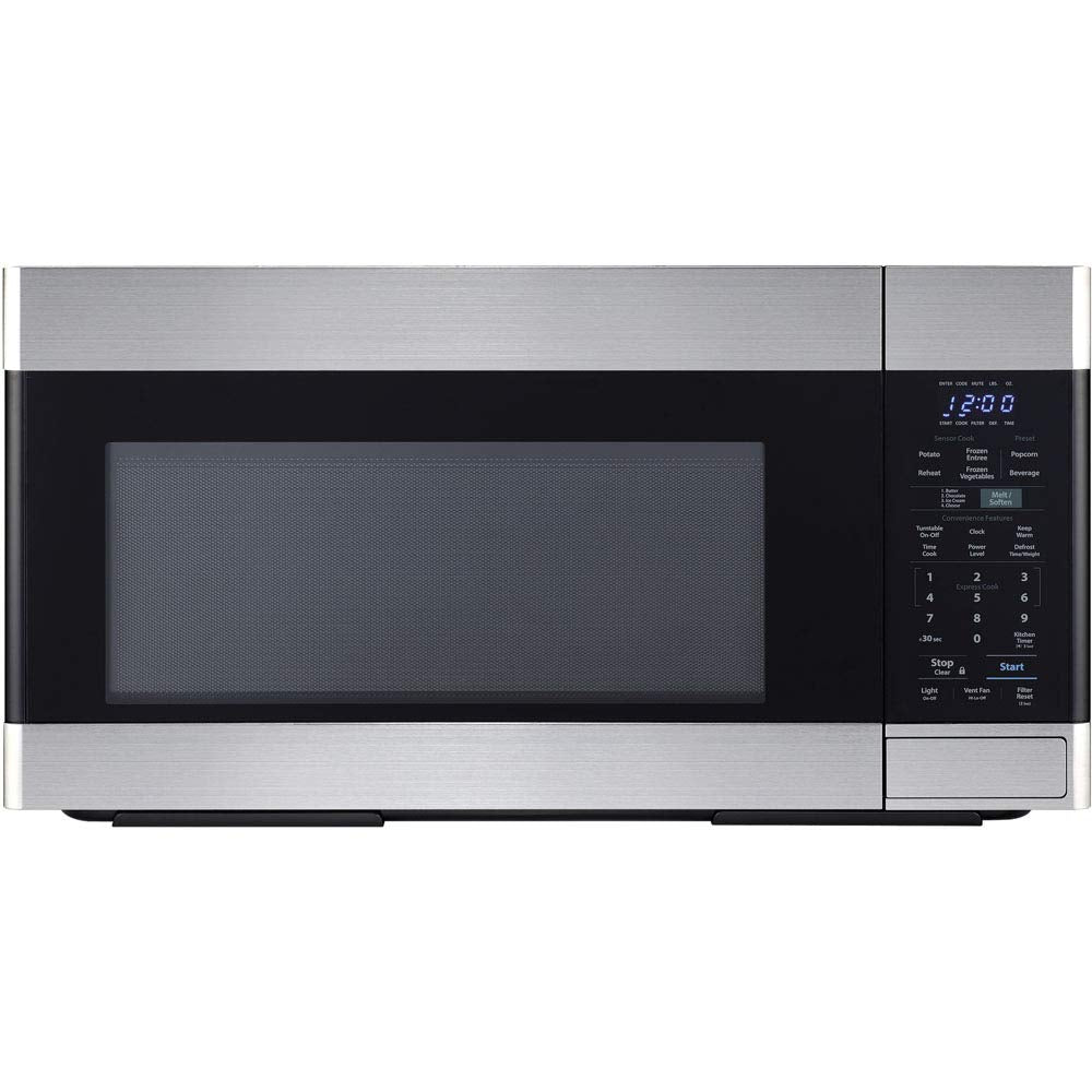 Sharp Over The Range Microwave Oven With 1.6 Cubic ft 1000W 300 CFM, Stainless Steel