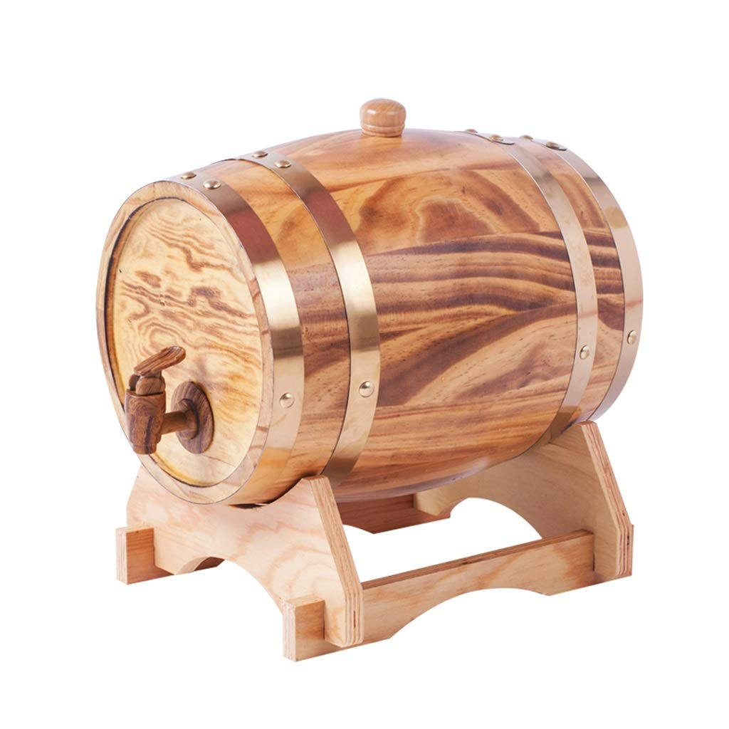 Wine barrel GX Household Oak Barrels Red White Beer Barrels Filled with Wine Decorated Oak