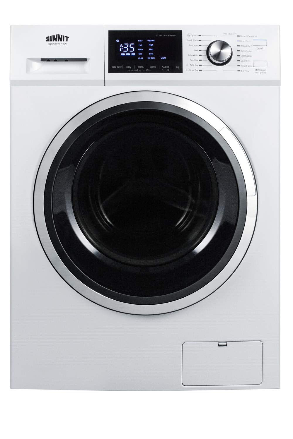 Summit SPWD2202W 24 Inch Wide 2.7 Cu. Ft. Front Loading Washer/Dryer Combo