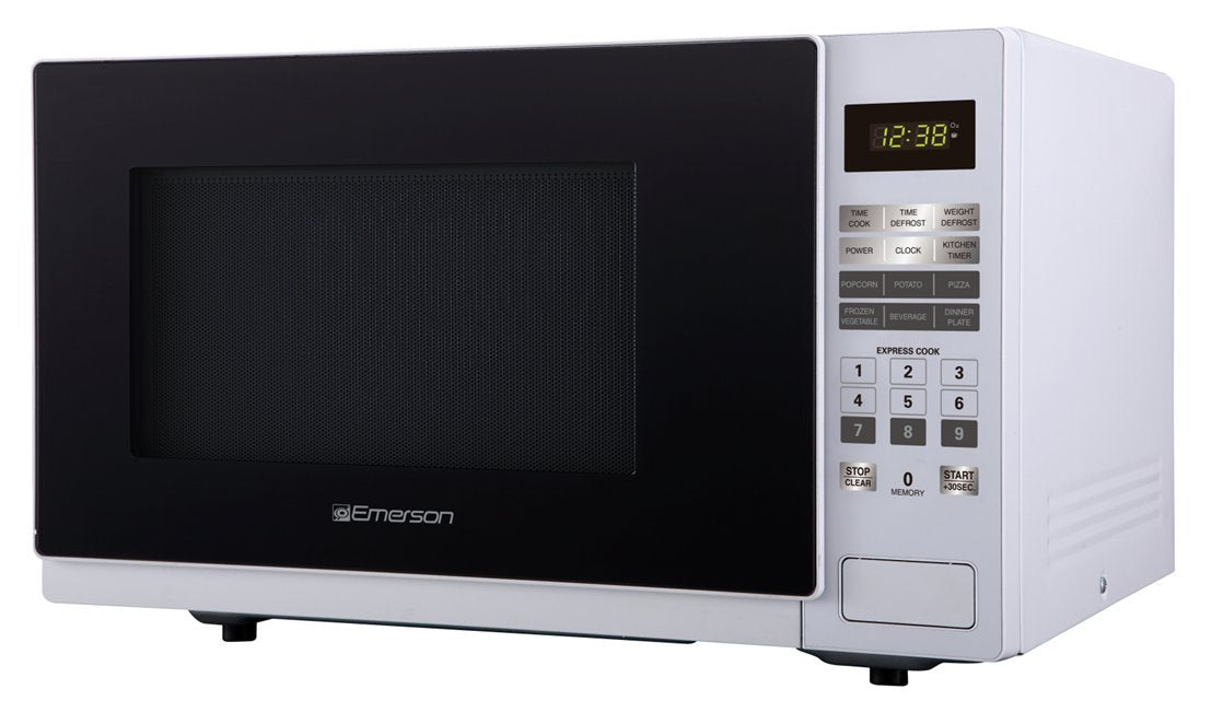 Emerson ER105001 1.1 cu. ft. 1000W, Touch Control Counter Top Microwave Oven, White