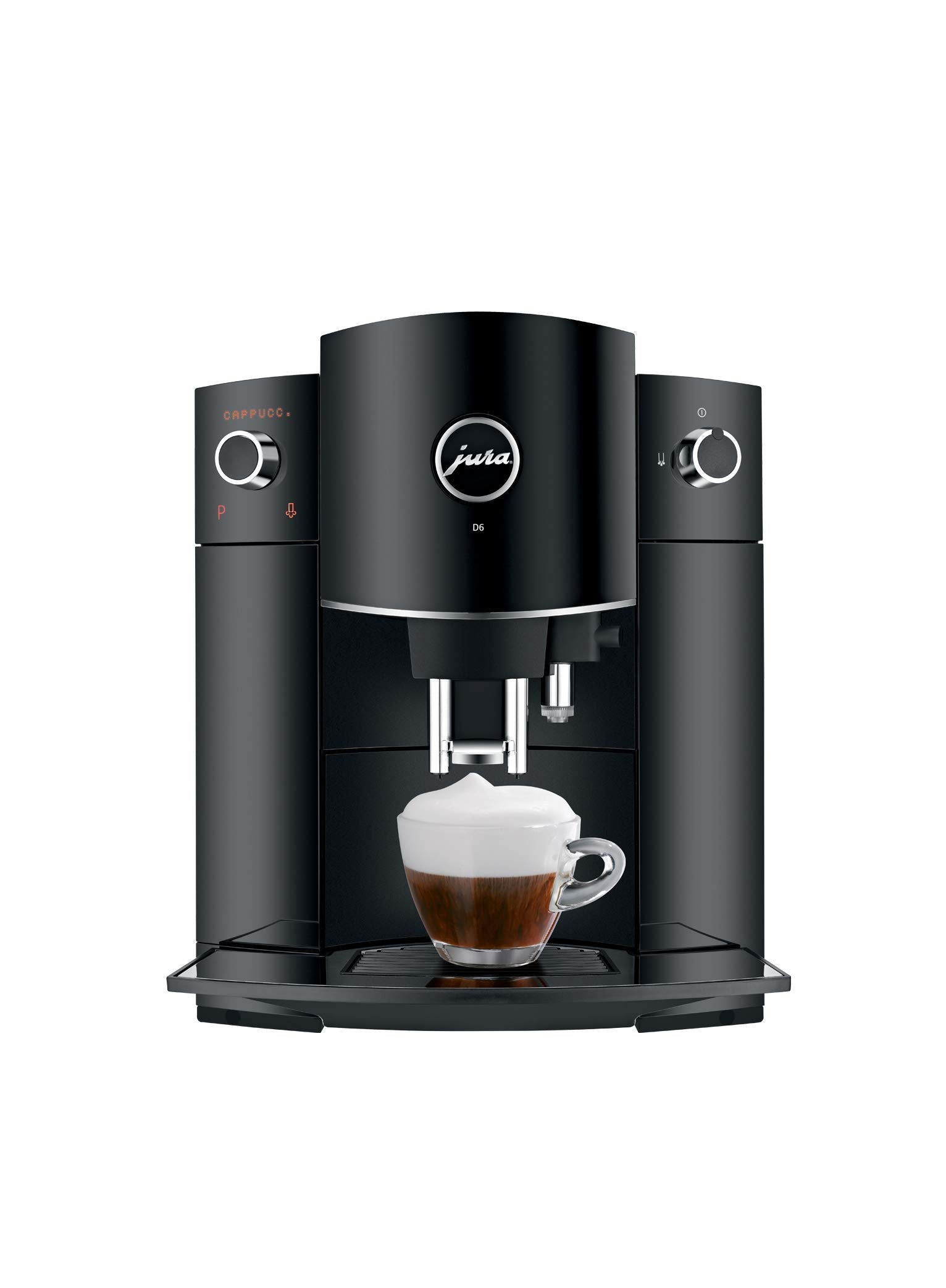 Jura 15215 D6 Automatic Coffee Machine Piano Black, 1 (Renewed)