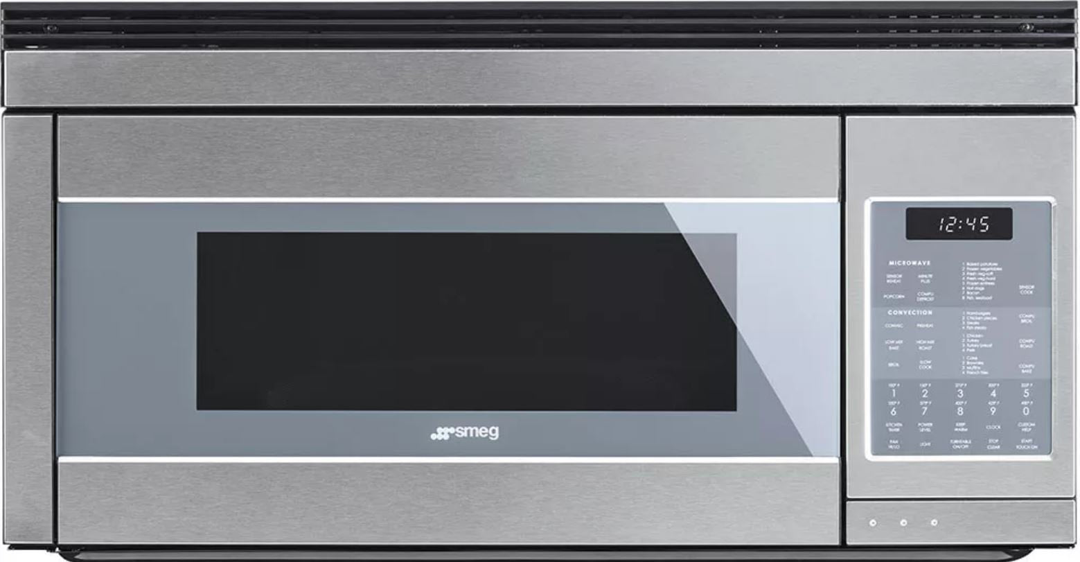 Smeg 30'' Linea Design Over-the-Range Microwave, Stainless Steel