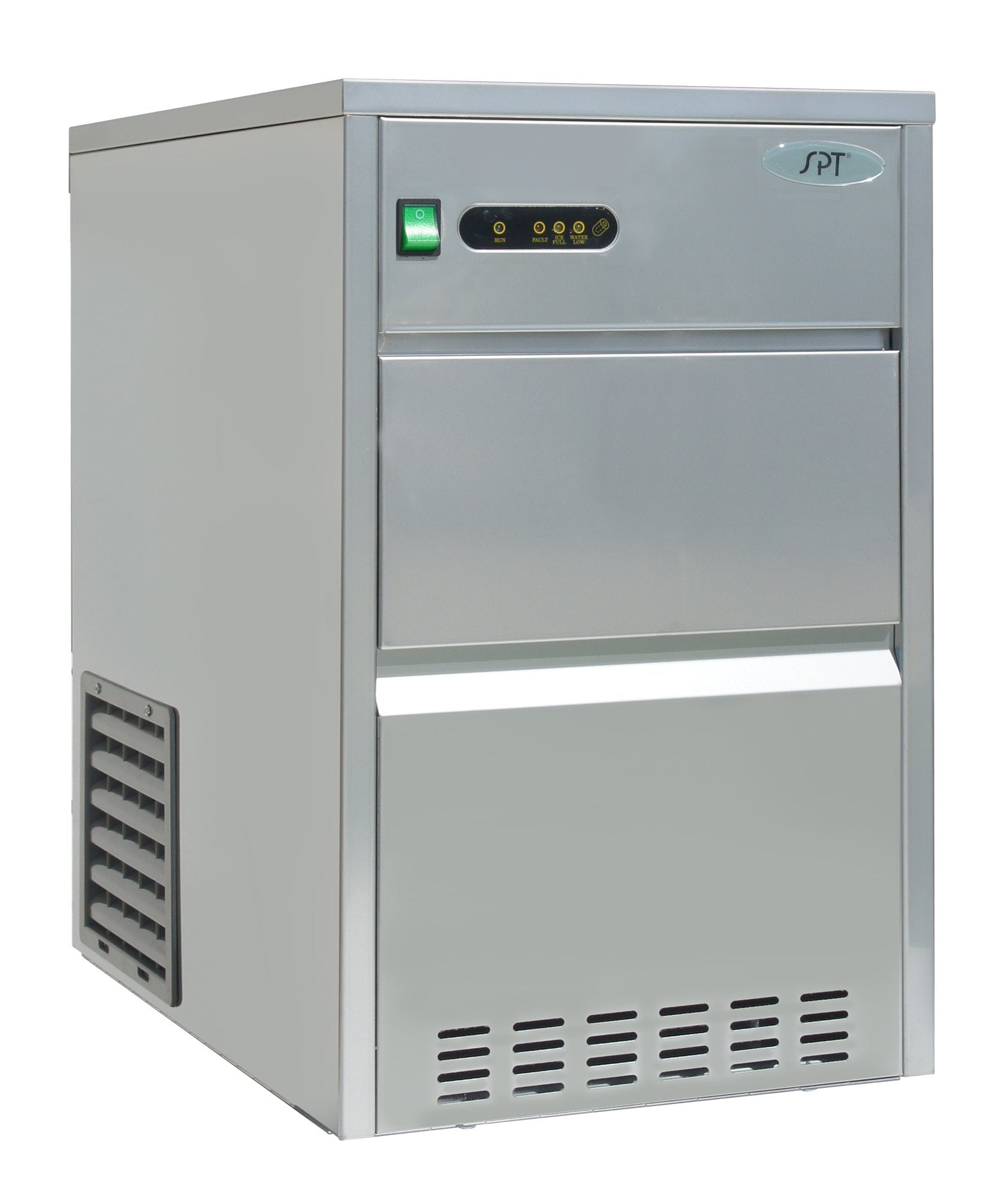 SPT IM-1109C 110 lbs Automatic Stainless Steel Ice Maker, Silver