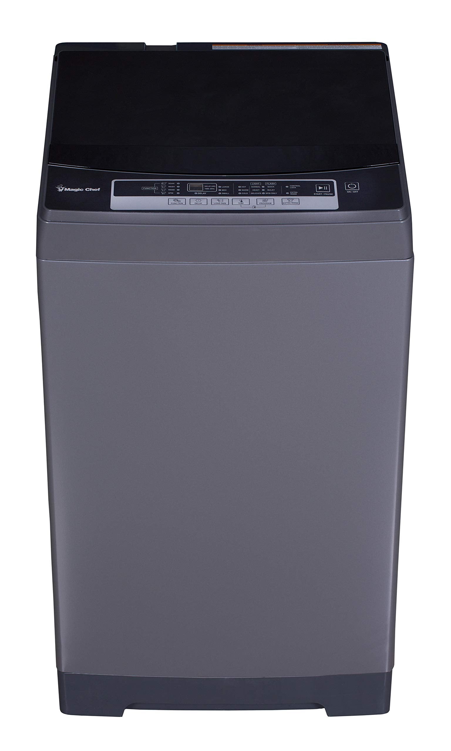 Magic Chef MCSTCW16S4 Stainless Steel 1.6 Cu. Ft. Compact Top-Load Washer,